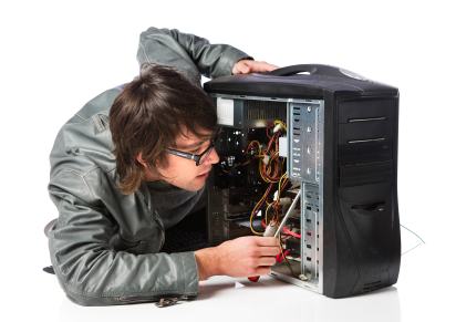 Technician_Working - Technician Working An A Computer